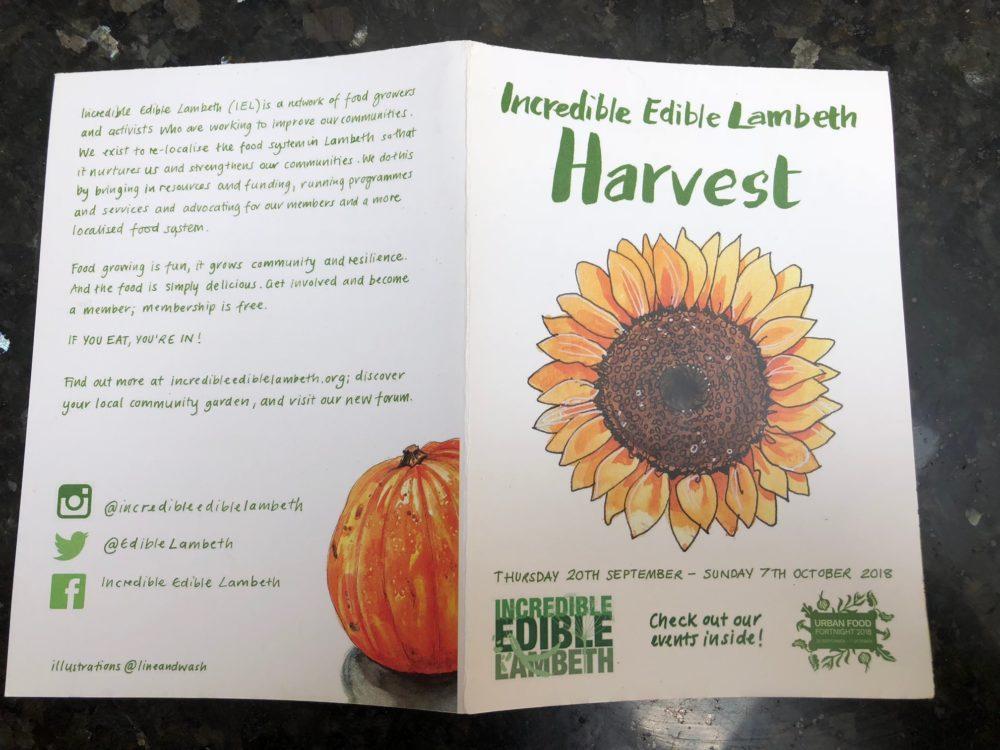 Incredible Edible Lambeth Harvest